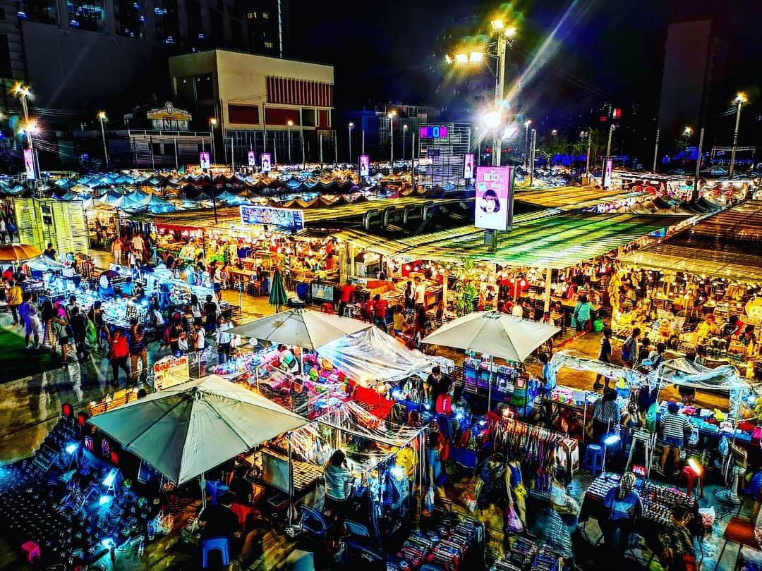 Talad Neon Night Market Thailand Bangkok