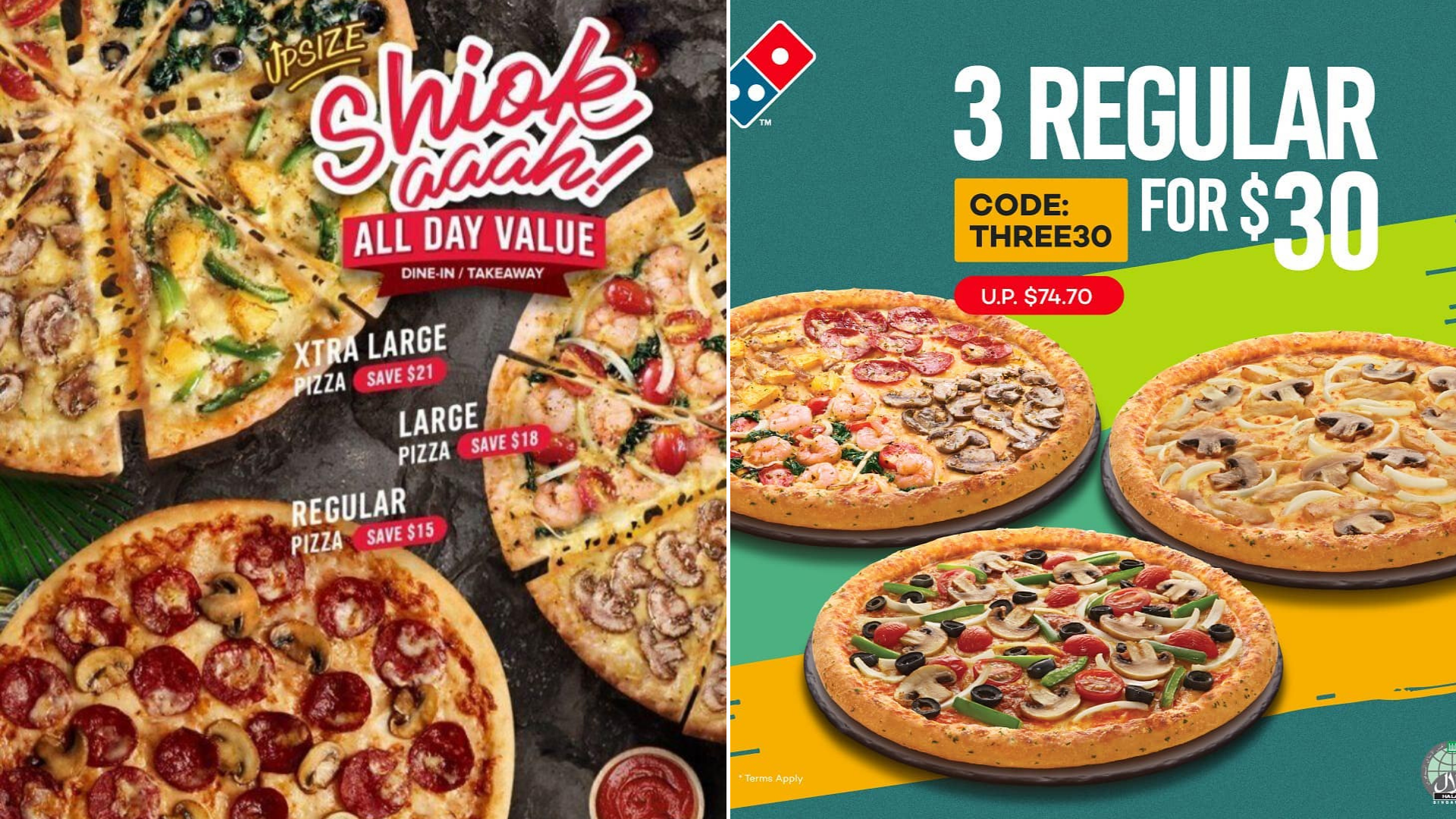 Domino S Flash Deal 3 Pizza For 30 Is Now Available Until 15th March